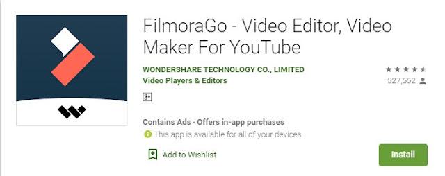 Filmorago editing software
