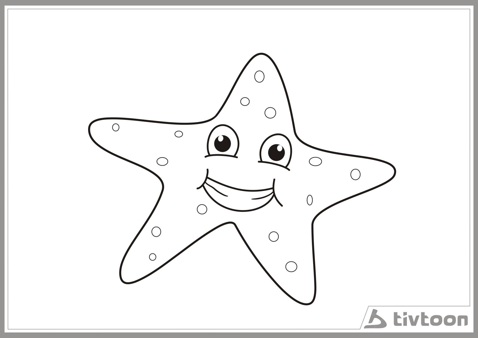Cara Mewarnai Bintang Laut Gambar Mewarnai Gratis