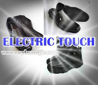 sepatu,sandal,selop,listrik,super,sakti,electric touch,et