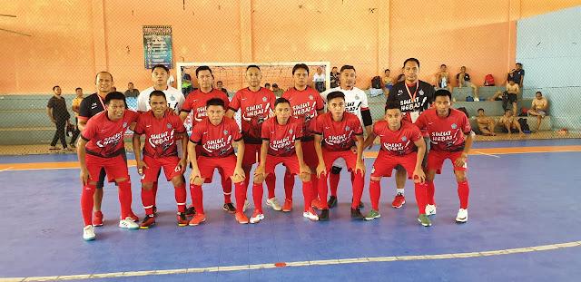 Dimanejeri Clay Dondokambey, Tim Futsal Pornas Sulut Libas Tim Futsal Kejagung