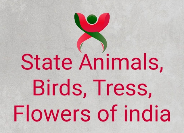 State Animals, Birds, Tress, Flowers of india