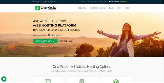 GreenGeeks-homepage