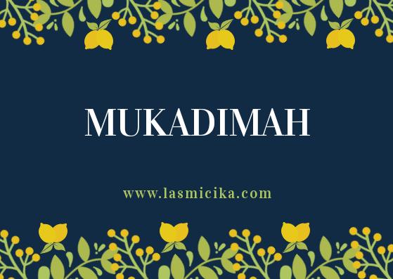 tulisan pertama mukadimah