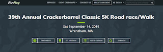 39th Annual Crackerbarrel Classic 5K Road Race/Walk - Sep 14