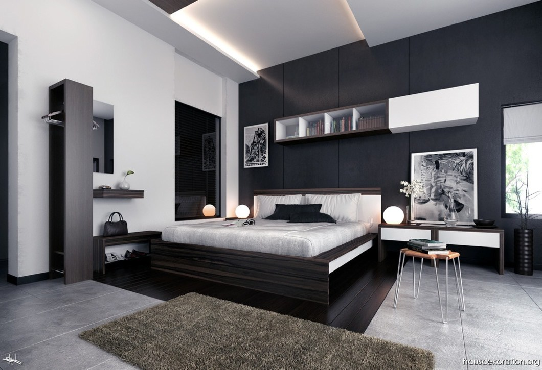 Habitaciones modernas y elegantes dormitorios colores y - Dormitorios blanco y negro ...