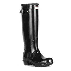 Hunter tall welly boots in Gloss
