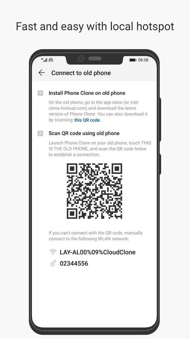 تطبيق Huawei Phone Clone للأندرويد 2019 - صورة لقطة شاشة (1)