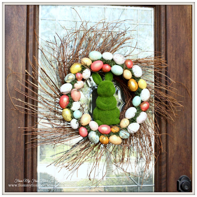 Front Door Spring Wreath-From My Front Porch To Yours- Easter Wreath
