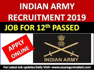 Indian Army Recruitment 2019-Technical Entry Scheme [10+2 Passed] Apply Online