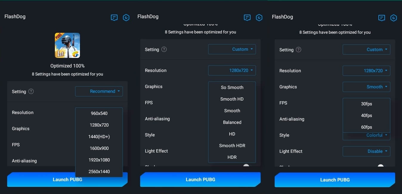 Setting FlashDog GFX Tool PUBG Mobile