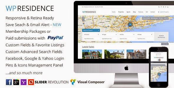 Download Free WP Residence v1.10 Real Estate WordPress Theme