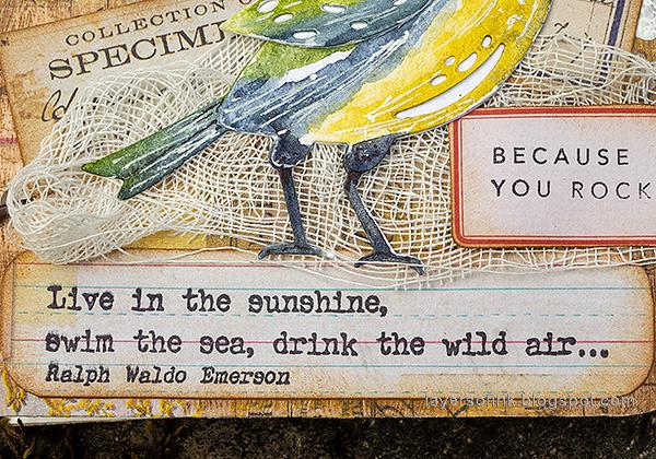 Layers of ink - DIY Bird Notebooks Tutorial by Anna-Karin Evaldsson.