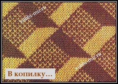 vyazanie spicami uzori jakkard shema opisanie knitting
