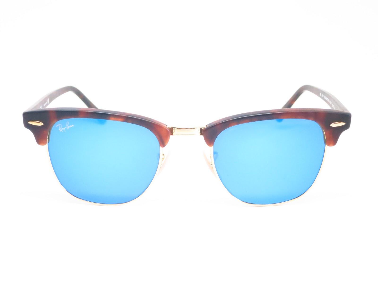613723171a89 Ray-Ban RB 3016 Clubmaster 1145/17 Sand Havana / Gold Sunglasses   I ...
