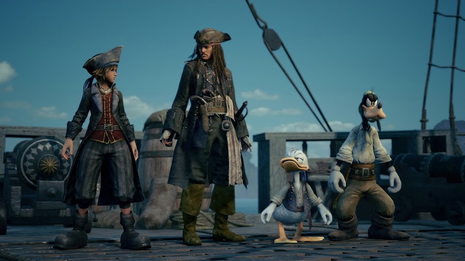 Kingdom Hearts 3 Sora Jack Sparrow 4k 3840x2160 Wallpaper 4