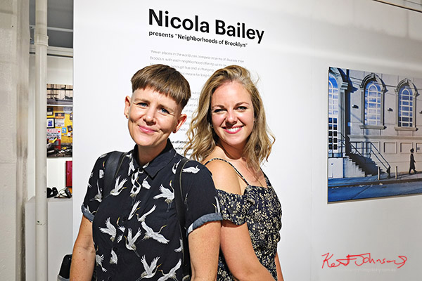 Nicola and friend; Kodak Ektra presents Stories of Change art opening. Street Fashion Sydney, New York Edition photographed by Kent Johnson.