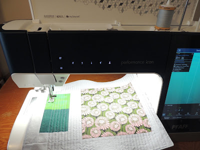 straight line quilting with the PFAFF performance icon