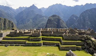 Pictures of Machu Picchu viewed from a distance