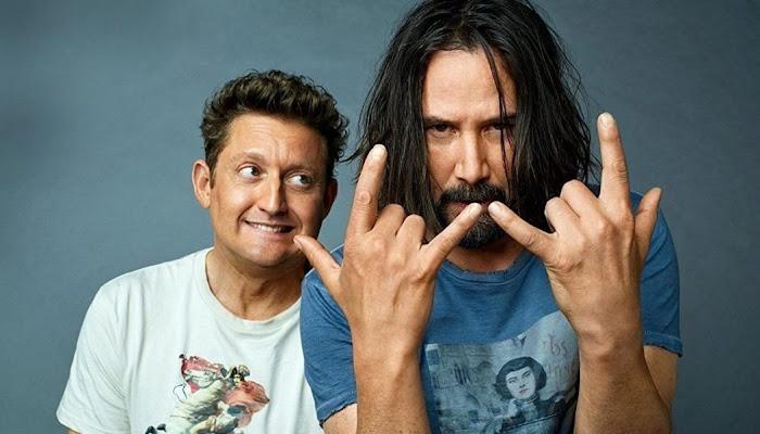 Sem barba, Keanu Reeves aparece rejuvenescido em foto de Bill & Ted 3