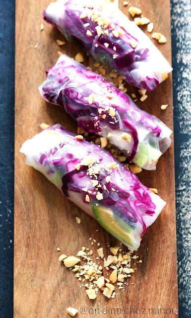 rouleaux printemps , cuisine vegan , 100 % légumes , cuisine d'été , vegetarien