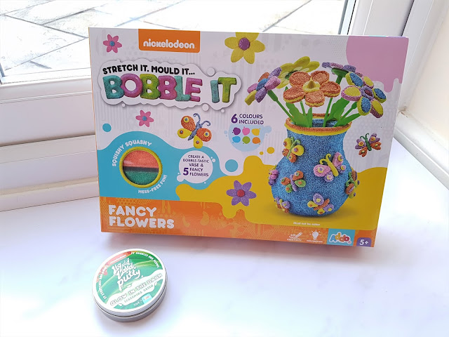 Addo Play Nickelodeon Bobble It Flower and Vase Kit, Addo Play Nickelodeon Liquid Lava Putty Glow in the Dark in Screaming Green