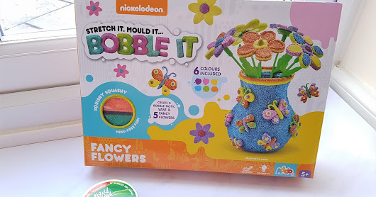 Addo Play Nickelodeon Bobble It Fancy Flowers set and Glow in the Dark Liquid Lava Putty in Screaming Green