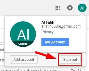 automatically sign out gmail