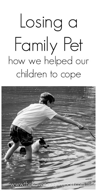 How we helped our children to cope with losing a family pet