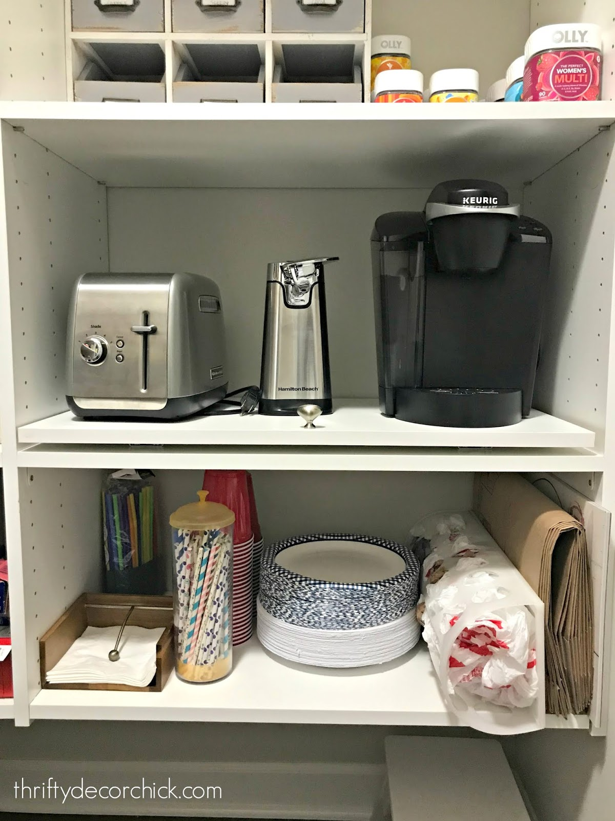 Do It Yourself Pull Out Shelf For Appliances In Pantry From Thrifty Decor Chick