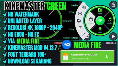 KINEMASTER GREEN BLACK