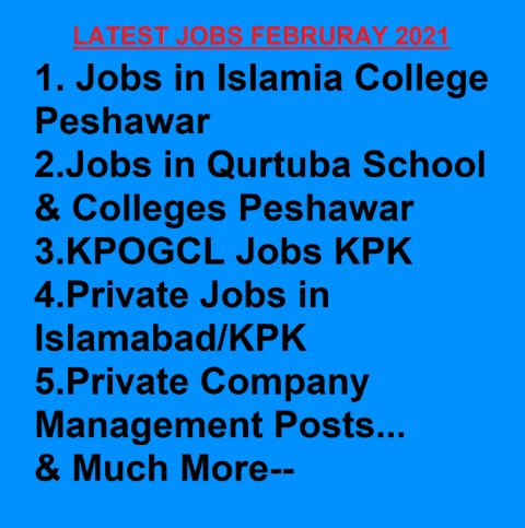 LATEST NEW JOBS FOR THE MONTH OF JANUARY & FEBRUARY 2021