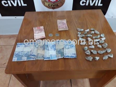 Policiais do Sevic e Unesfron flagram vendedor e usuário comercializando maconha