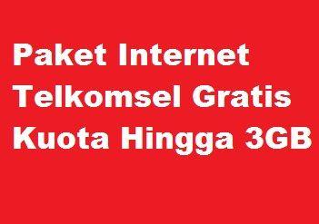 Sebagai Apresiasi untuk kamu dari Telkomsel menyediakan layanan atau kode yang dapat digu Paket Internet Telkomsel Gratis Kuota Hingga 3GB