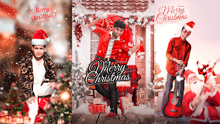 Merry Christmas photo editing background and png Download