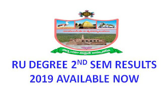 Manabadi RU Degree 2nd Sem Results 2019 available now @ ruk.ac.in 1