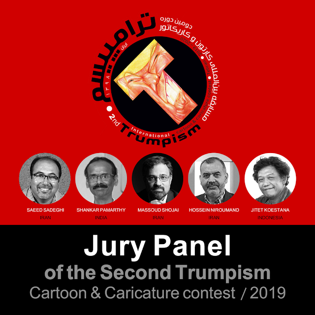 The Jury panel of Trumpism International cartoon & Caricature Contest-2019