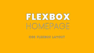 CSS3 Flexbox Homepage Design