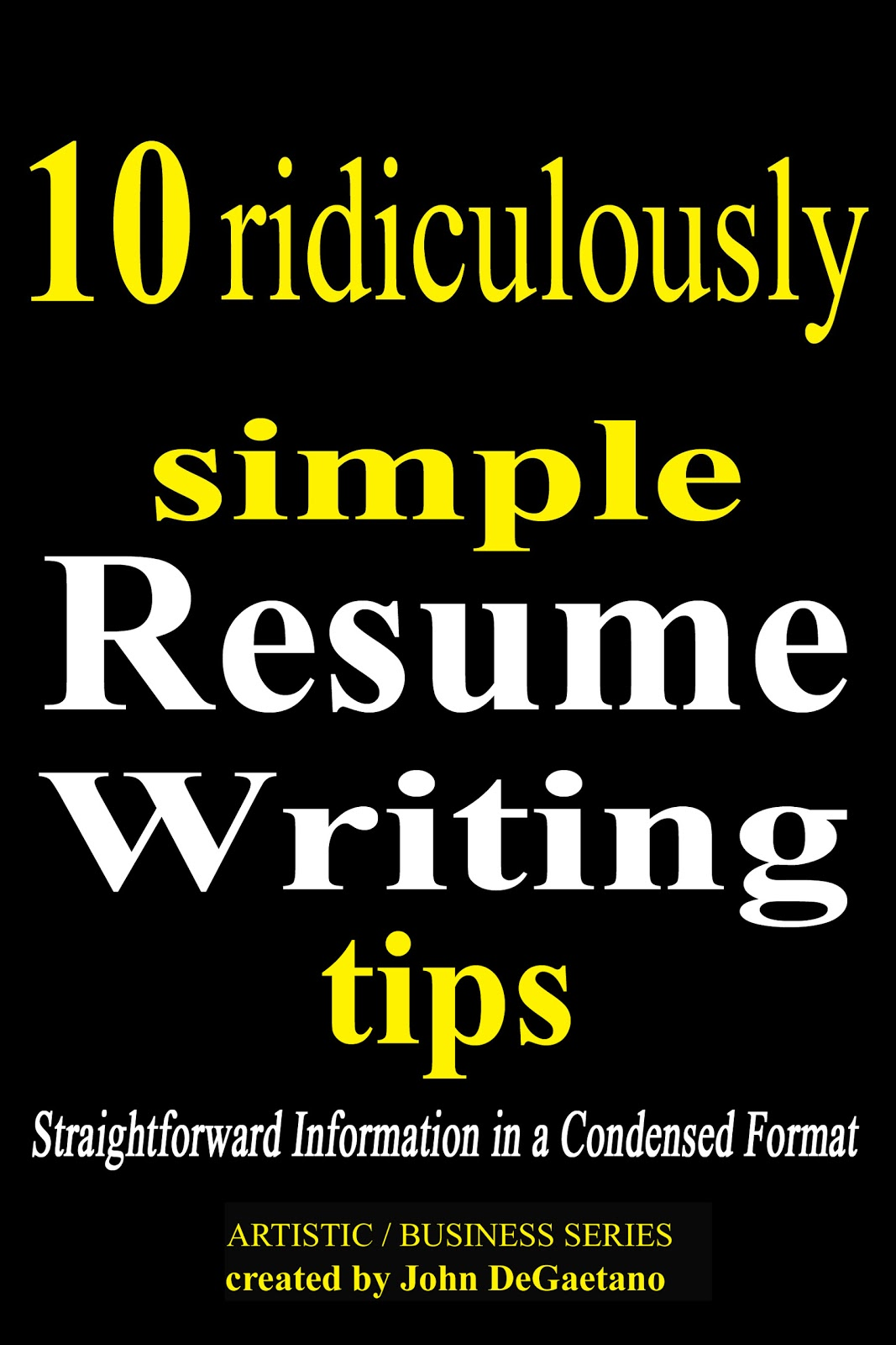 easy resume writing tips
