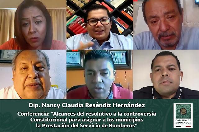 Necesario, que los municipios del país brinden el servicio público de bomberos a sus comunidades: Nancy Claudia Reséndiz