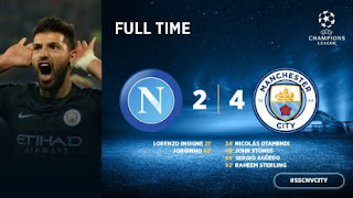 Manchester City Libas Napoli 4-2 Highlights Liga Champions