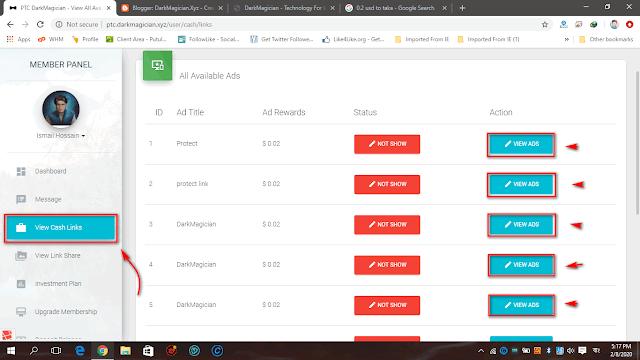 PTC.DarkMagician.Xyz সাইটে Paid To Click কাজ করার পরিপূর্ণ টিউটোরিয়াল এবার আয় করুন পিটিসি সাইট থেকে 26