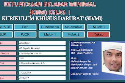 Apilkasi KKM SD Kondisi Khusus Darurat