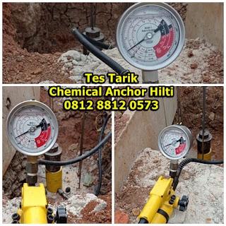 Tes Tarik (Pull Out Test) Chemical Anchor Hilti HIT RE 100 Untuk Besi Rebar