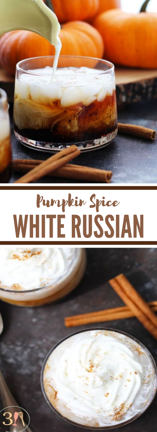 PUMPKIN SPICE WHITE RUSSIAN #drink #cocktail #pumpkin #party #yummy