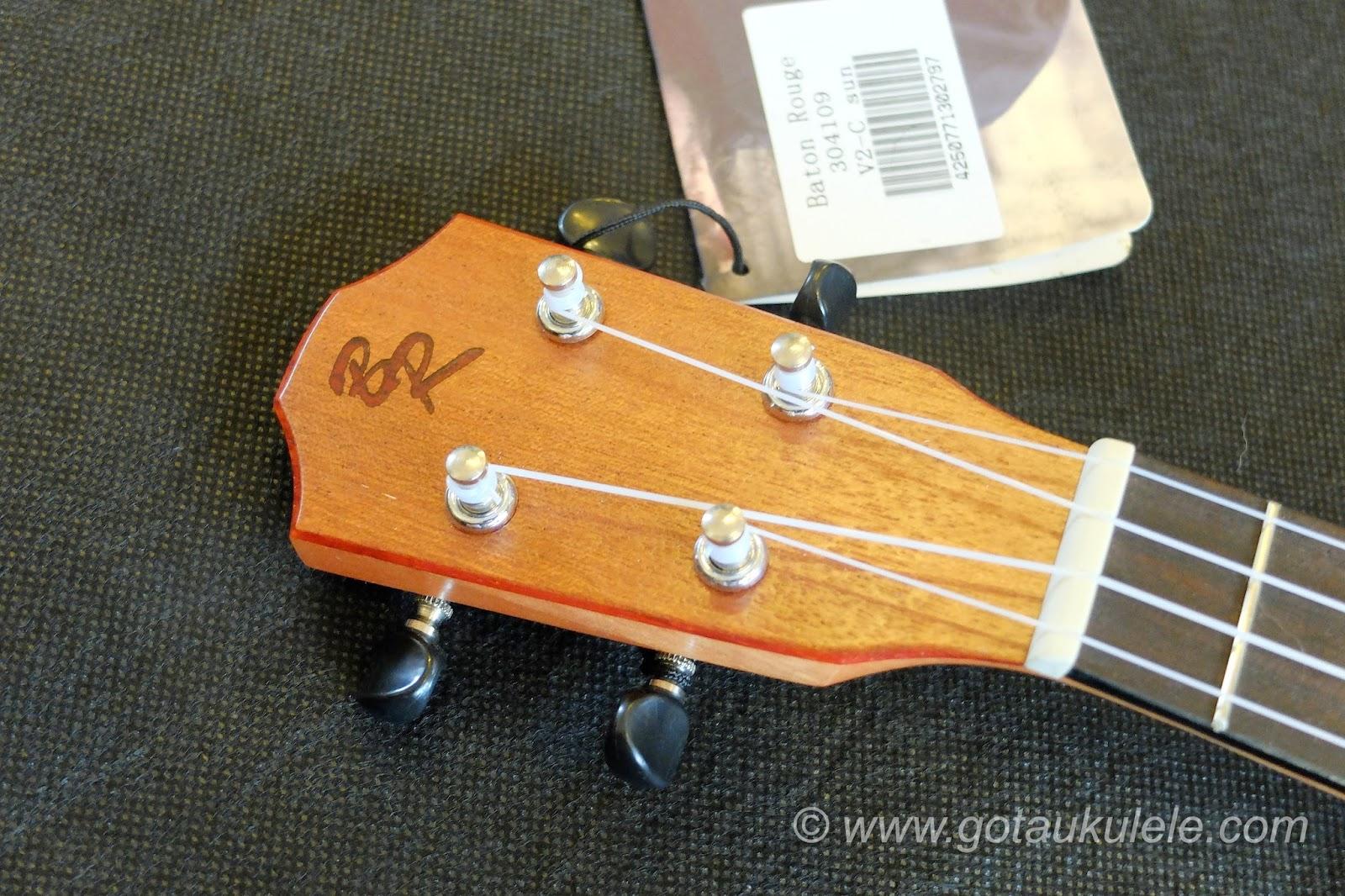 Baton Rouge V2C Sun ukulele headstock