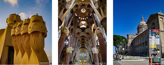 Barcelona: La Pedrera, a Sagrada Família e o Museu Nacional de Arte da Catalunha