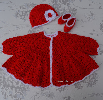 Free Crochet Patterns And Designs By Lisaauch Crochet Baby Set With