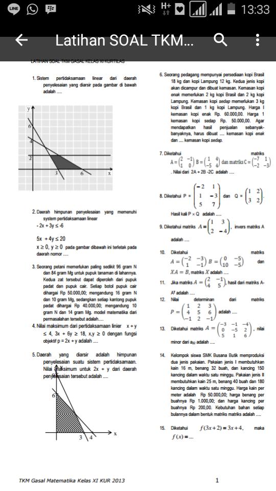 Skanisa Math Latihan Soal Uas Gasal Matematika Smk Kelas Xi 2016
