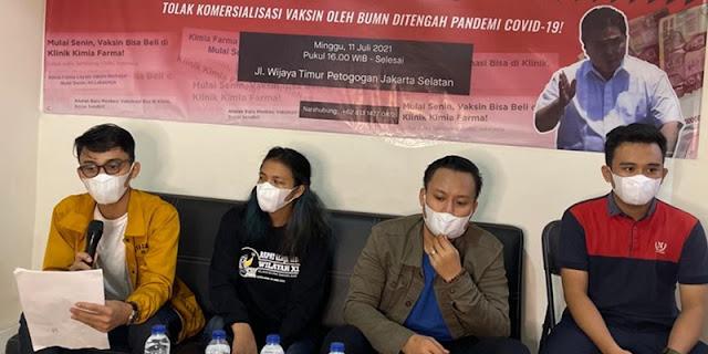 BEM Nusantara: Komersialisasi Vaksin Tak Berperikemanusiaan, Jokowi Harus Tegur Erick Thohir