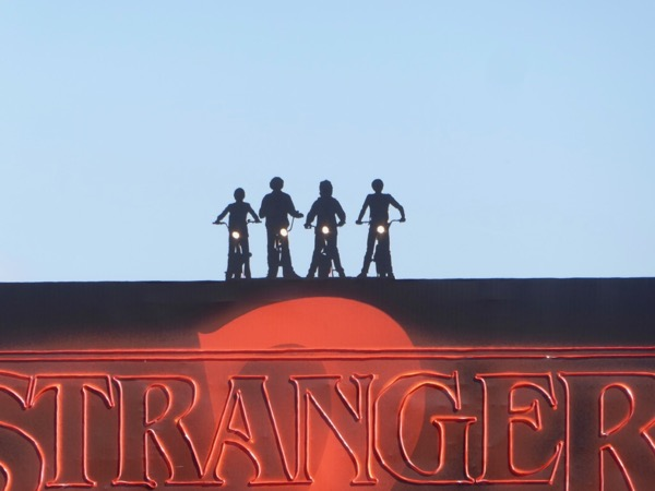 Stranger Things 2 neon sign billboard cut-outs